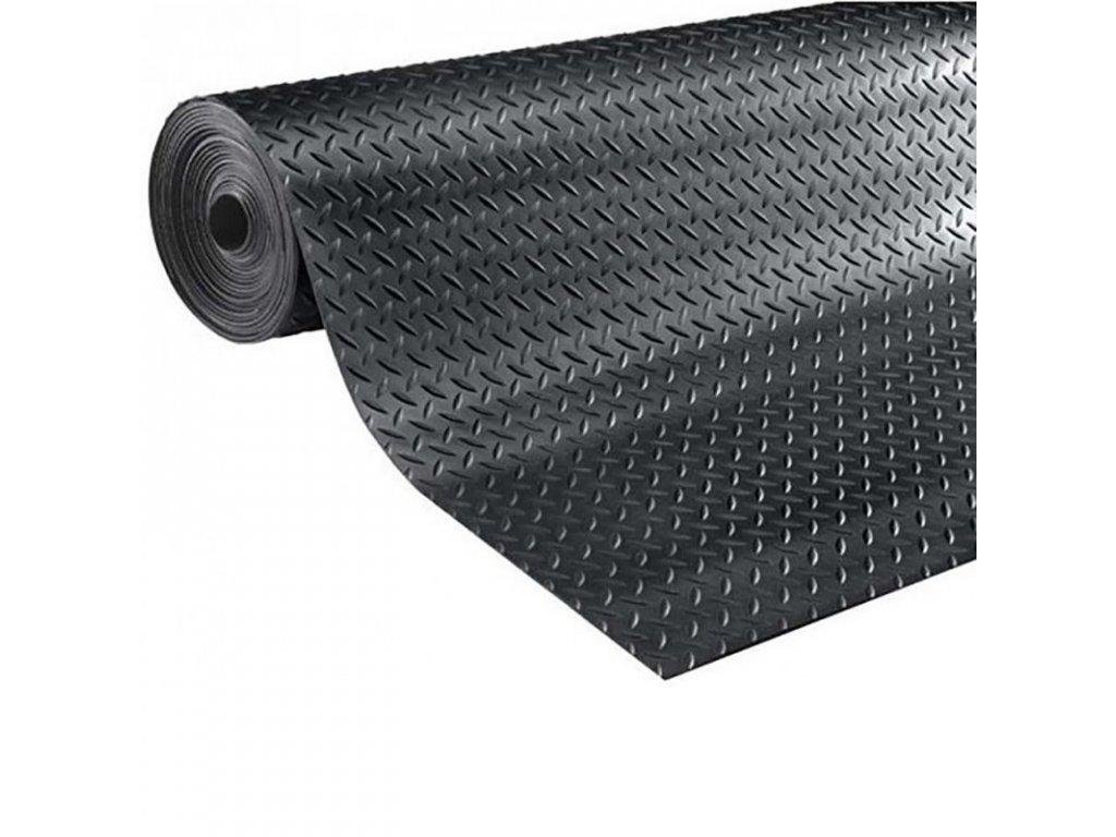 Gumová podlahovina PRIMA dezén DIAMANT - černá, role (Rozměr šíře 1,2 m /  tloušťka 3 mm)
