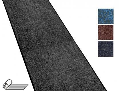 Rohož textilní DRACHEN v roli, výška 10mm, šíře 120 a 205 cm, zátěžová (Barva černý melír, Šířka cm 120)