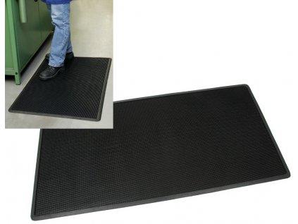 Rohož gumová STIFT, černá v. 10,12,14 mm různé rozměry (Rozměr cm 55 x 35, Výška mm 10)