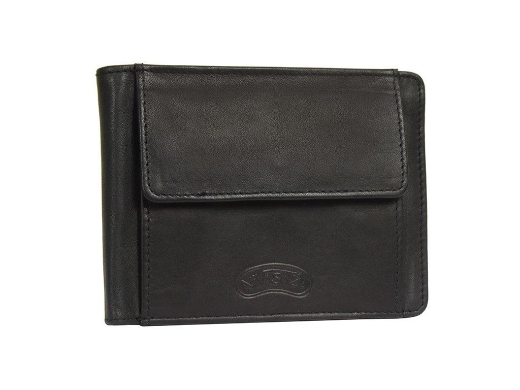 Pánská kožená peněženka Nivasaža N51-MTH-B černá