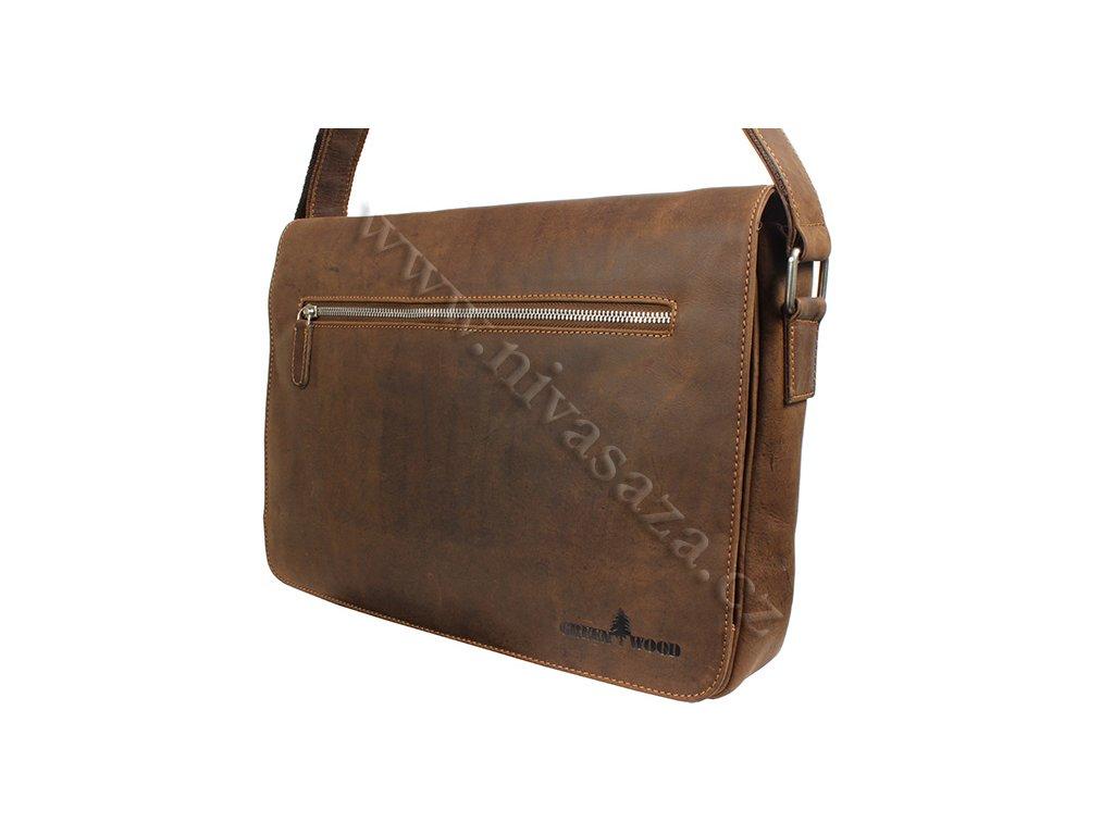 Pánská kožená taška Green Wood 588H-KHA hnědá - NiVaSaŽa.cz ad45dfd3ee9