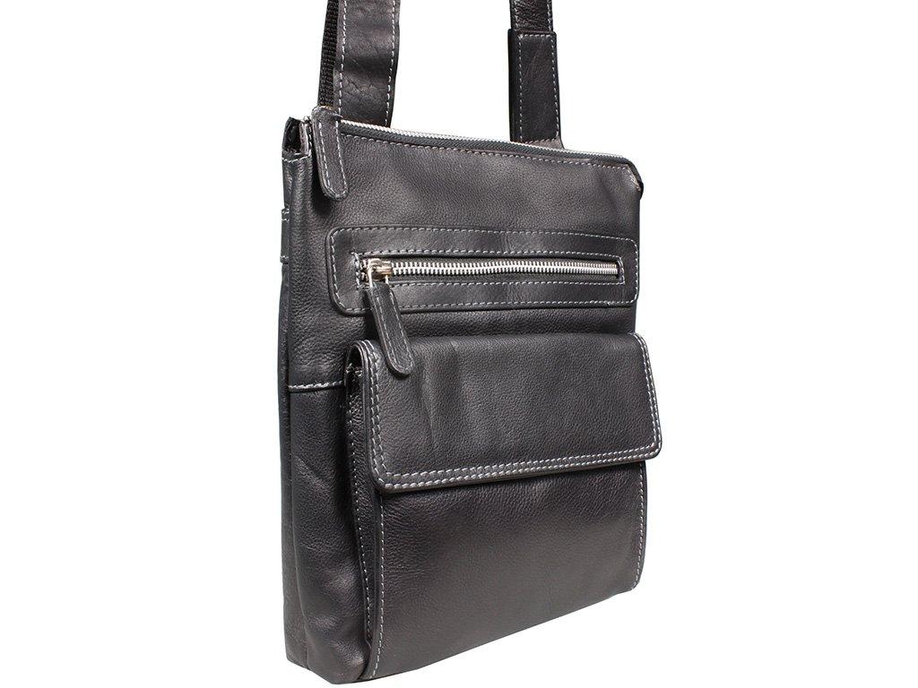 Kožená taška Green Wood 6306A-BLK černá