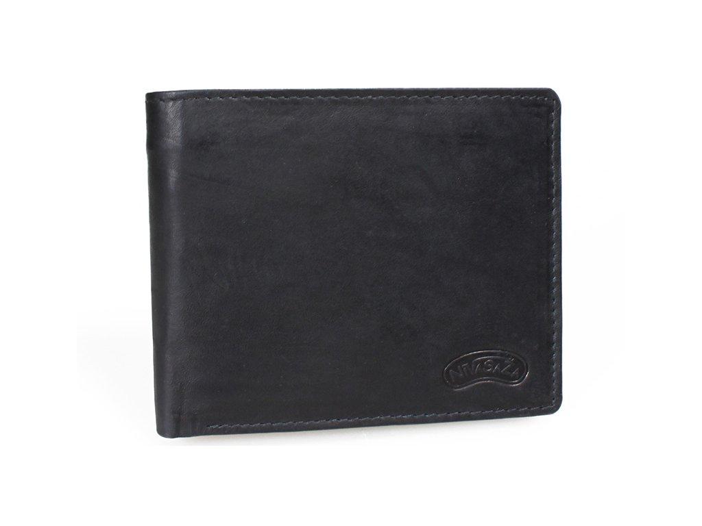 Pánská kožená peněženka Nivasaža N212-MTH-B černá