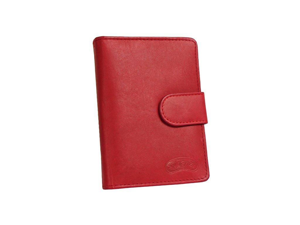 Kožené pouzdro na doklady Nivasaža N124-MTH-R červené