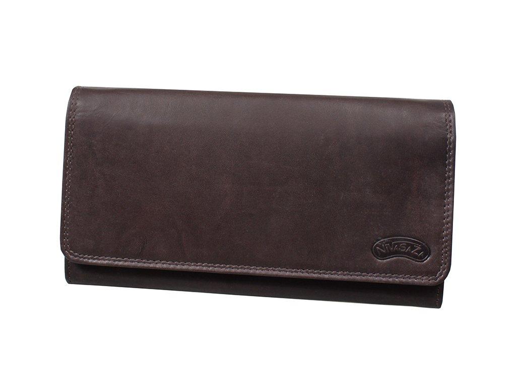 Dámská kožená peněženka Nivasaža N21-MTH-BR hnědá