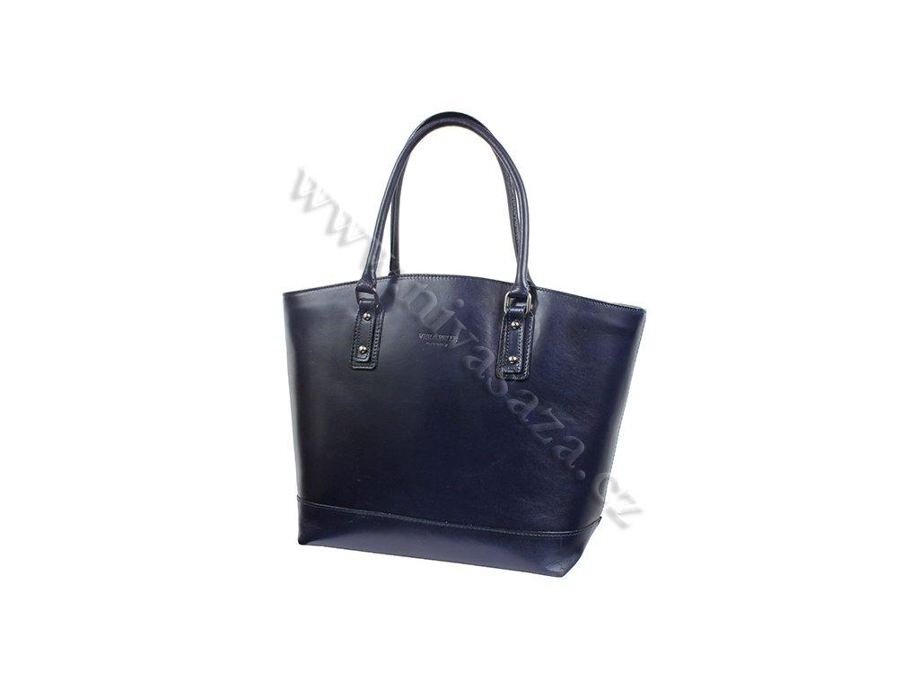 Dámská kožená kabelka ITA3658-BL modrá