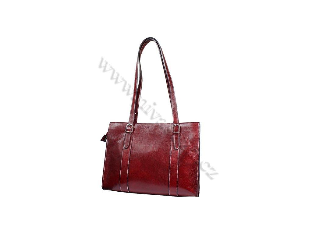 Dámská kožená kabelka ITA7733-R červená