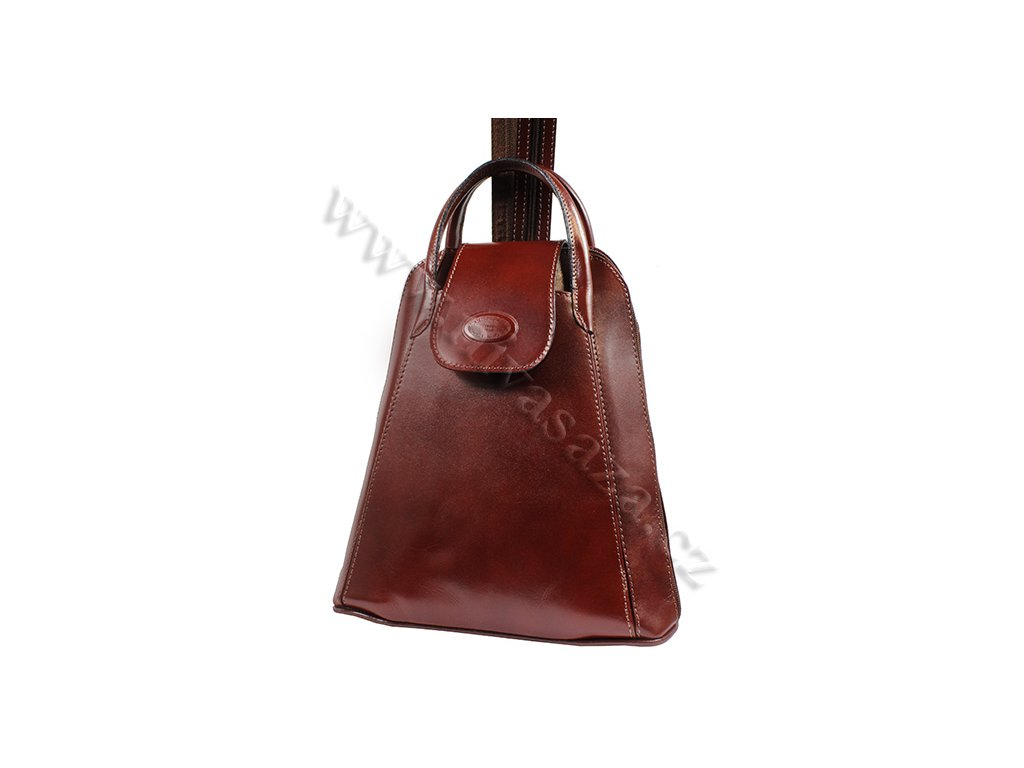 Dámský kožený batůžek ITA9551-BR hnědý