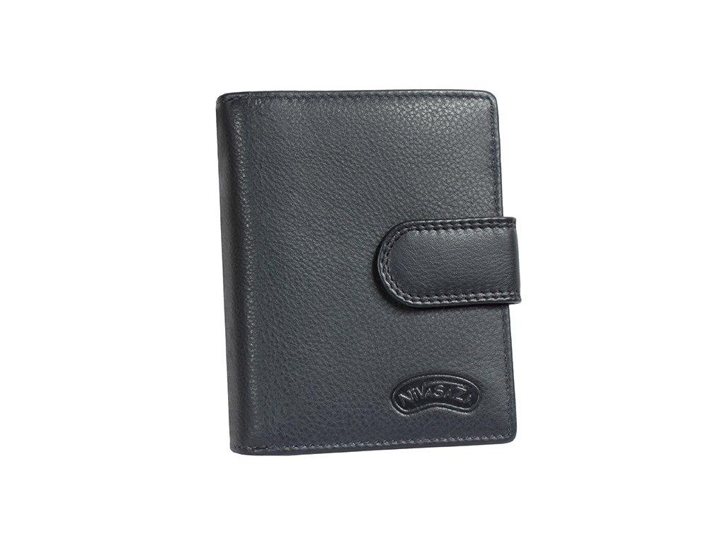 Dámská kožená peněženka Nivasaža N6-FNP-BL tmavě modrá