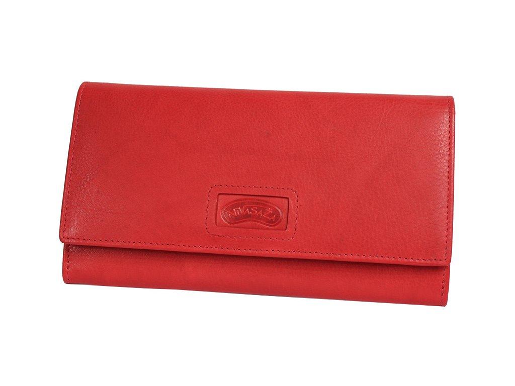 Dámská kožená peněženka Nivasaža N221-CAL-R červená