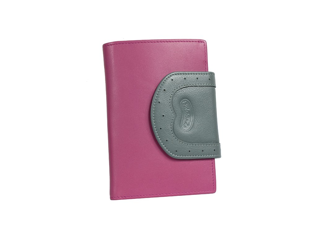 Dámská kožená peněženka Nivasaža N220-PIC-PG růžová
