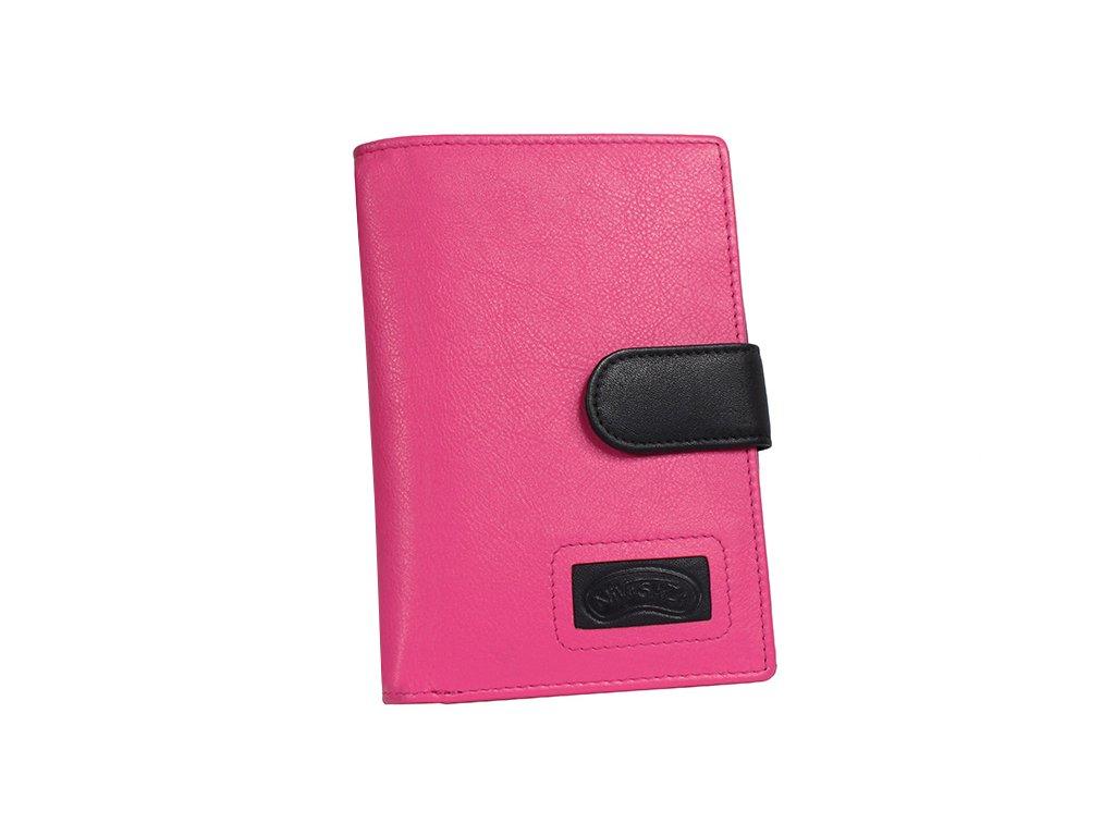 Dámská kožená peněženka Nivasaža N223-FNP-PBL růžová