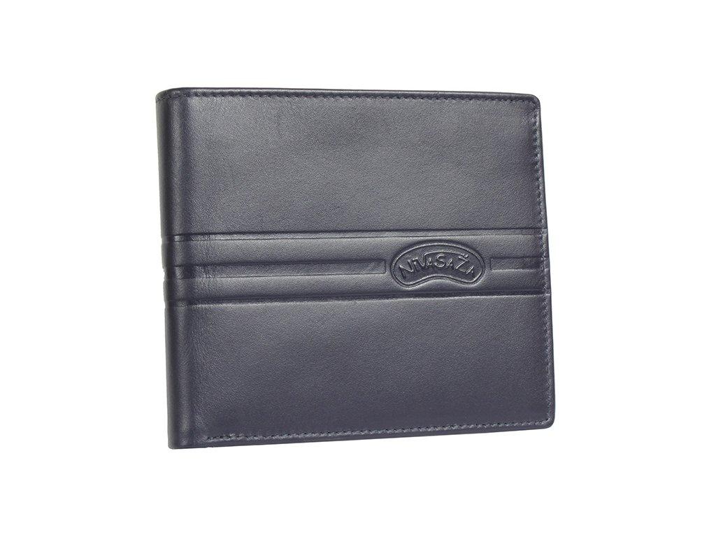 Pánská kožená peněženka Nivasaža N217-KNZ-BLG modrá