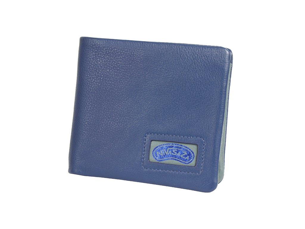 Kožená peněženka Nivasaža N219-NAB-BLG modrá