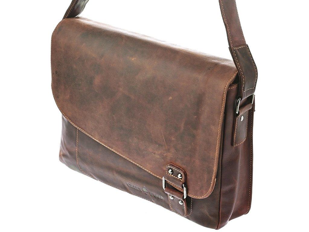 Pánská kožená taška Green Wood 837H-SND hnědá