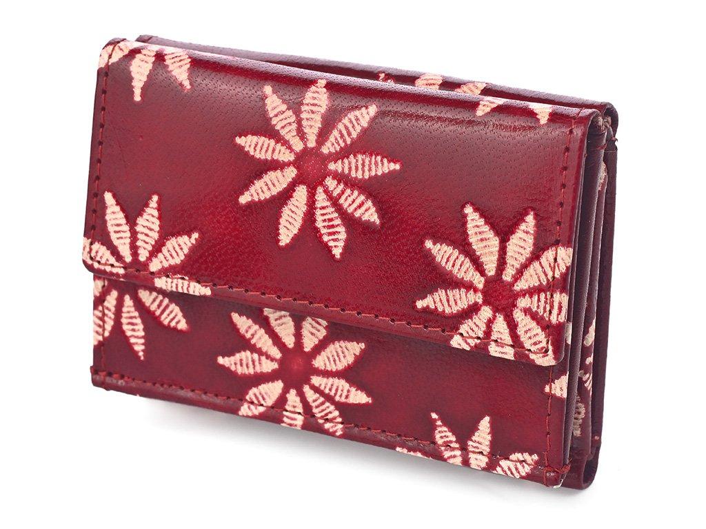 Dámská kožená peněženka Nivasaža N38-SNT-RF červená