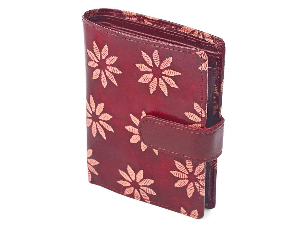 Dámská kožená peněženka Nivasaža N75-SNT-RF červená