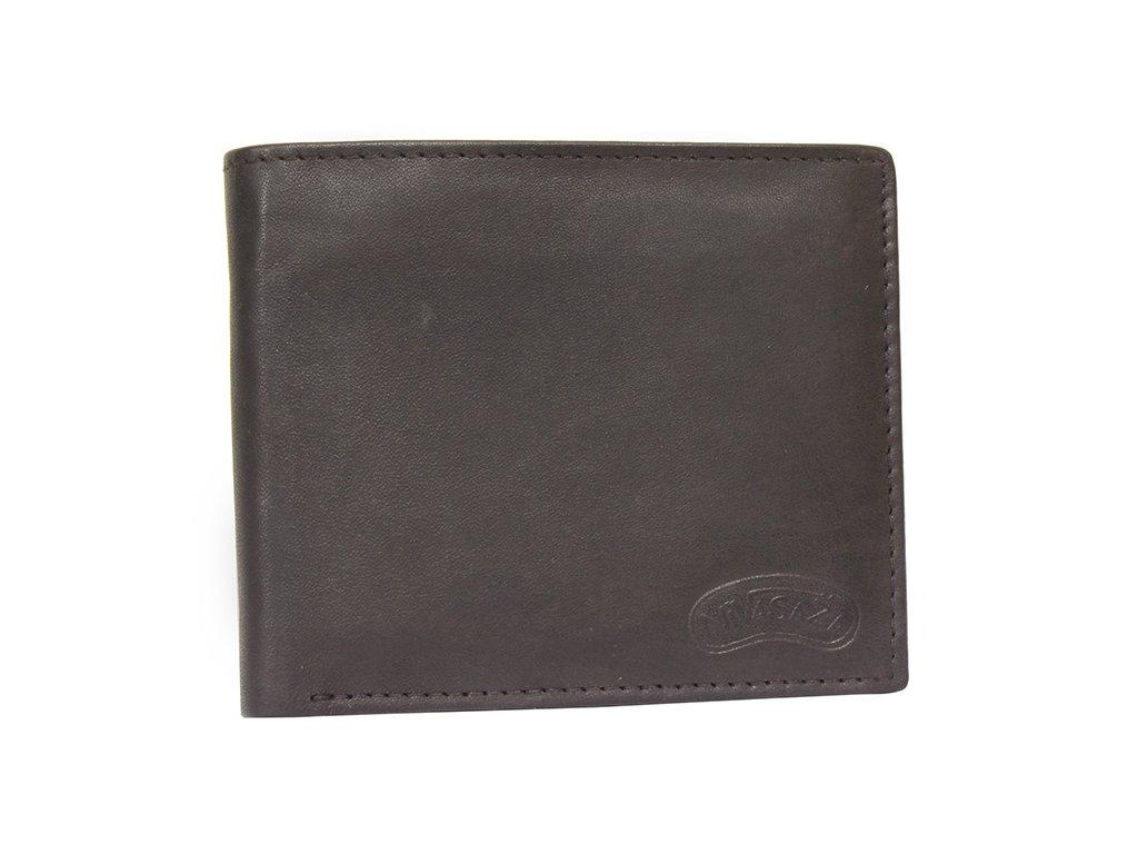 Kožená peněženka Nivasaža N59-MTH-BR hnědá