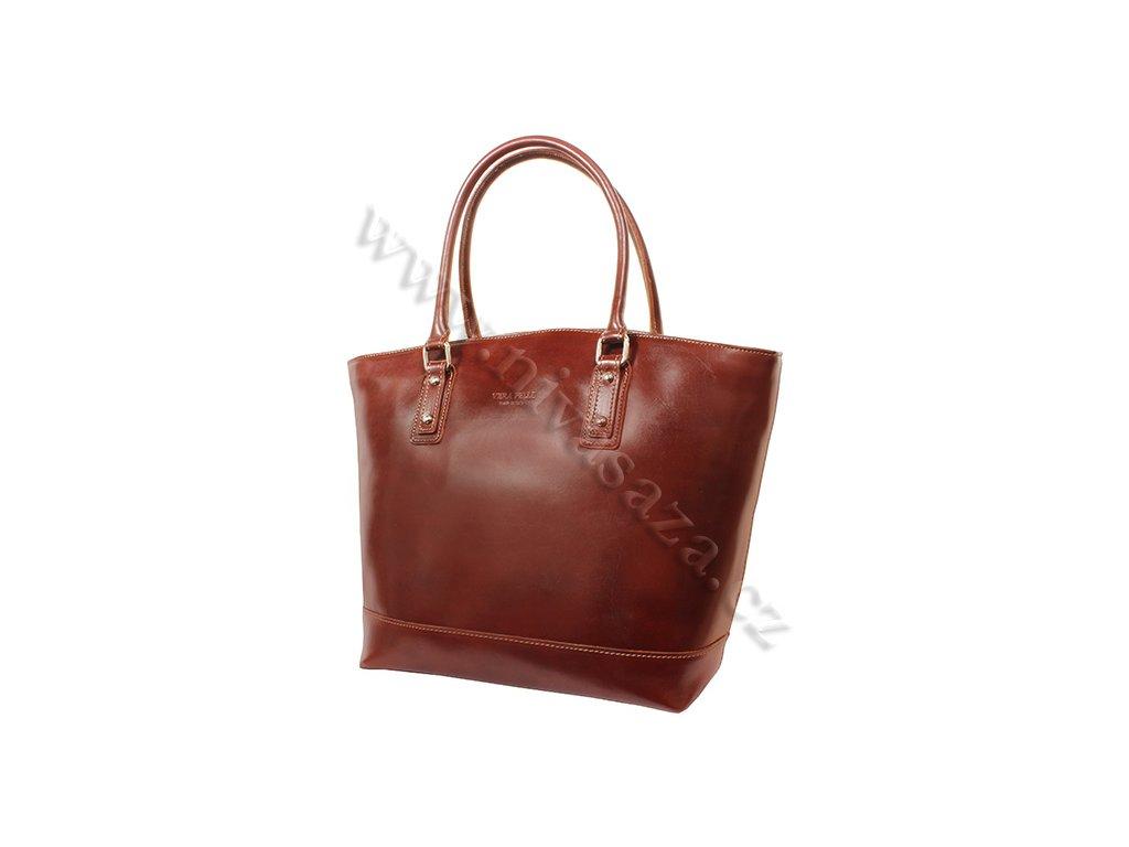 Dámská kožená kabelka ITA3658 hnědá