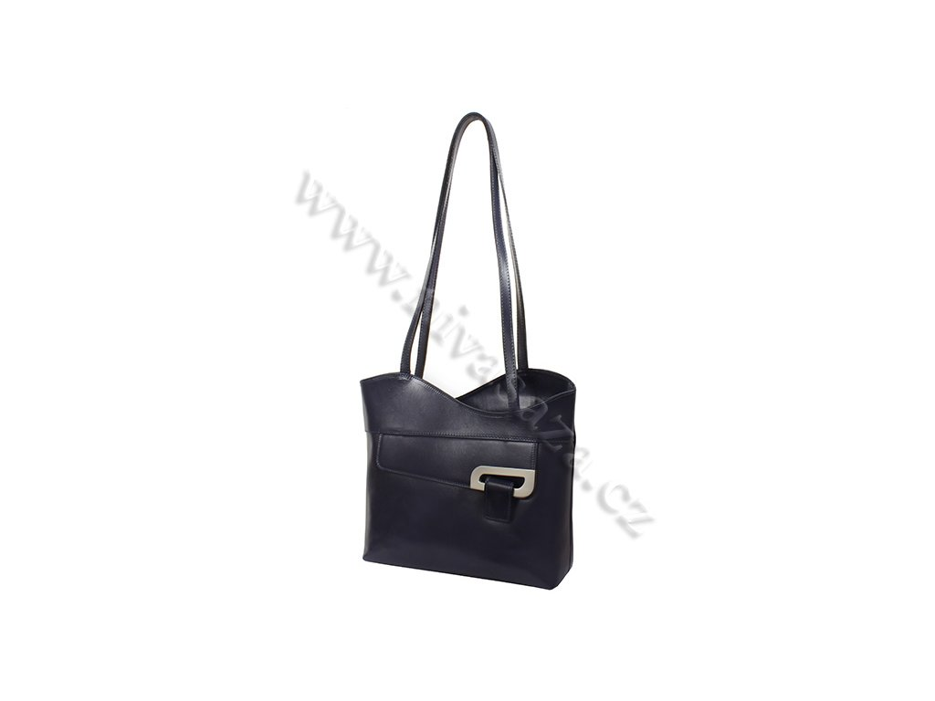 Dámská kožená kabelka ITA2631 modrá