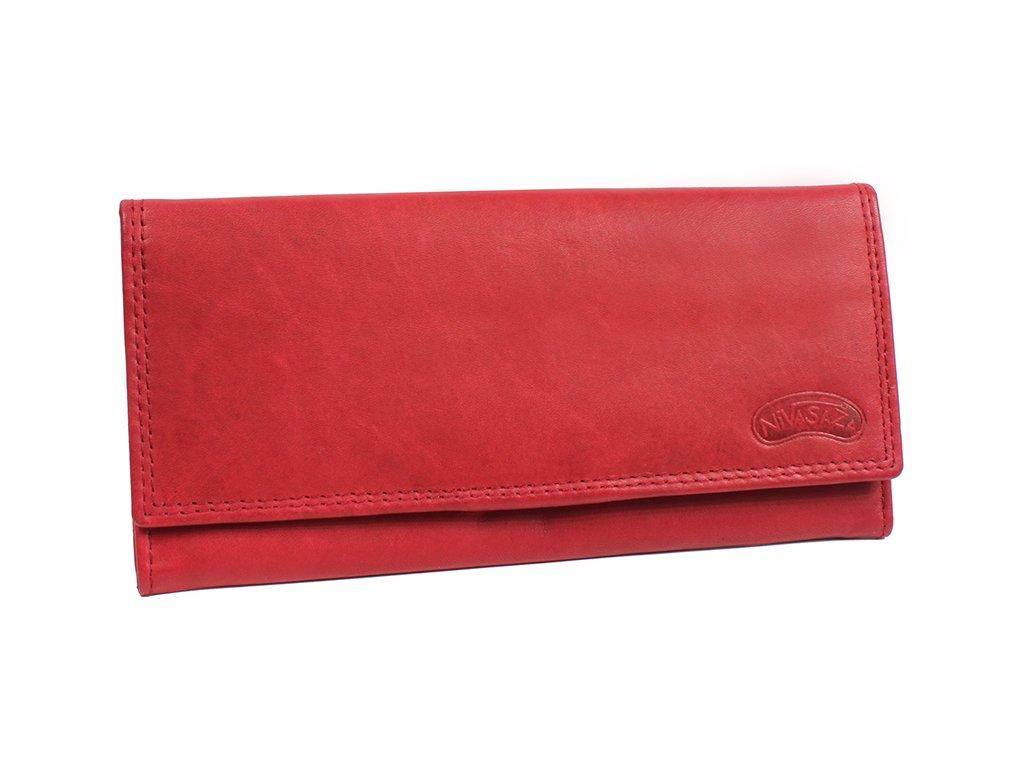 Dámská kožená peněženka Nivasaža N49-MTH-R červená