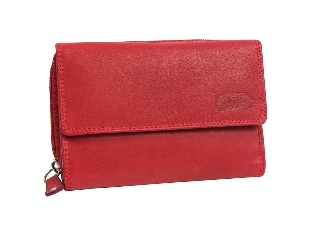 Dámská kožená peněženka Nivasaža N73-MTH-R červená