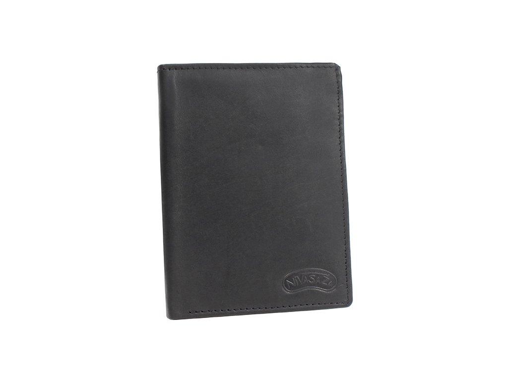 Pánská kožená peněženka Nivasaža N41-MTH-B černá