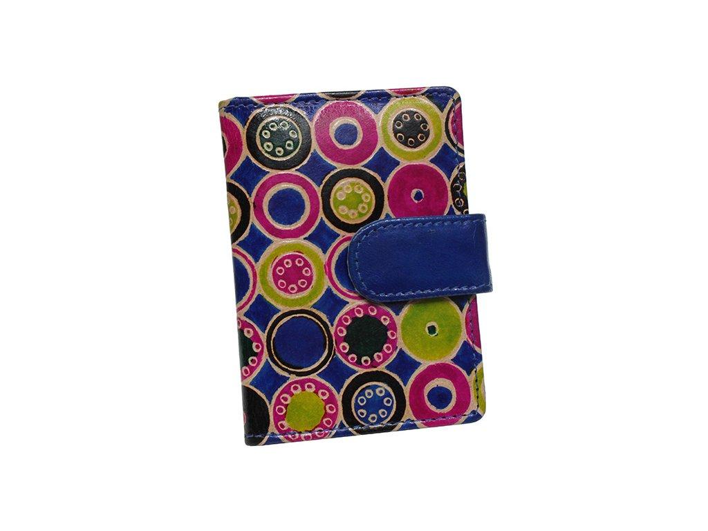 Kožené pouzdro na karty Nivasaža N160-SNT-MC barevné