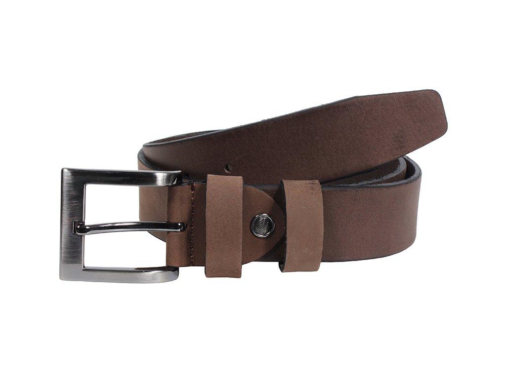 Kožený pásek Nivasaža N2400-HNT-BR hnědý