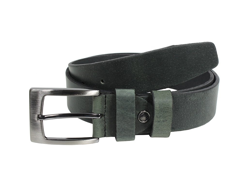 Kožený pásek Nivasaža N2400-HNT-BG tmavě zelená
