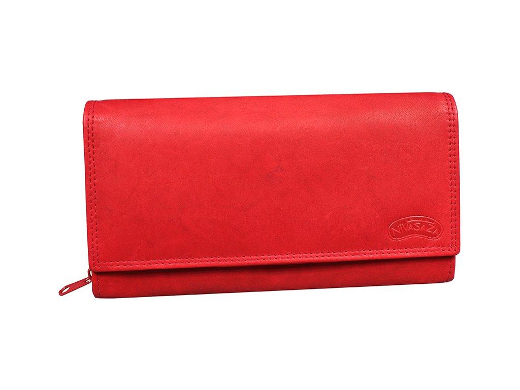 Dámská kožená peněženka Nivasaža N10-MTH-R červená