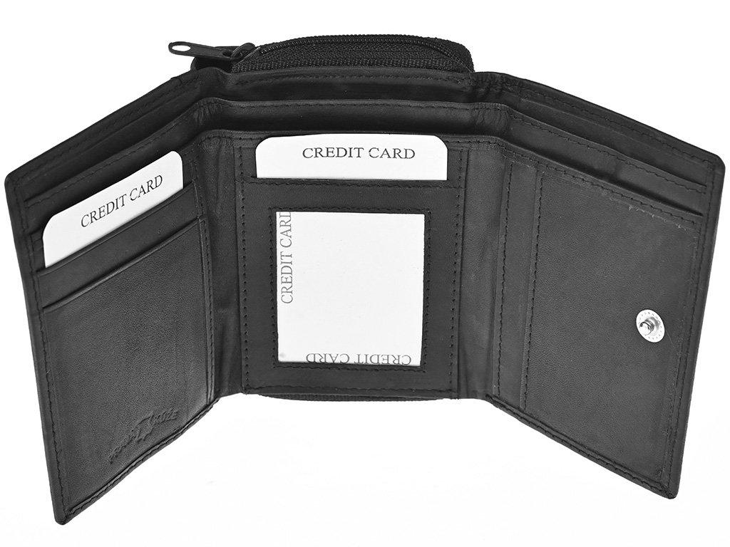 Dámská kožená peněženka Nivasaža N57-MTH-B černá