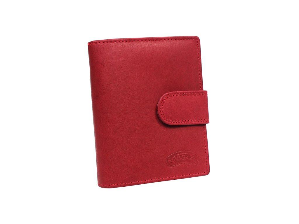 Dámská kožená peněženka Nivasaža N6-MTH-R červená