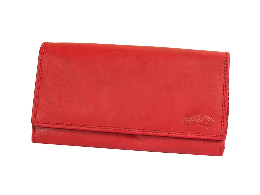 Dámská kožená peněženka Nivasaža N7-MTH-R červená