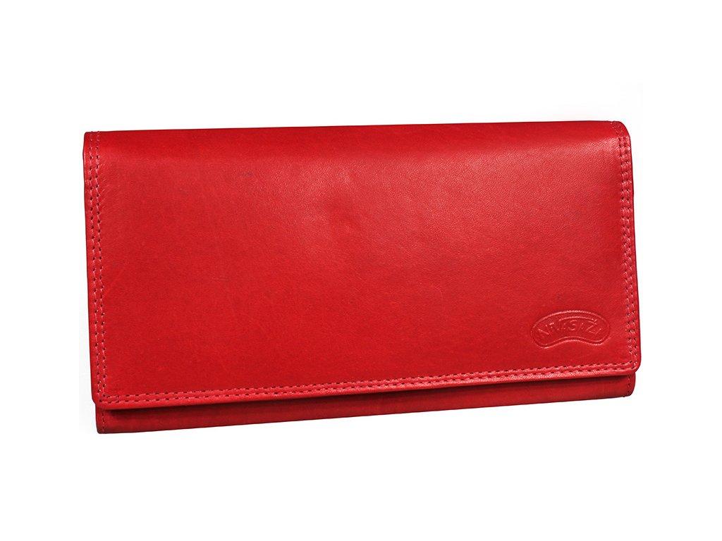 Dámská kožená peněženka Nivasaža N8-MTH-R červená