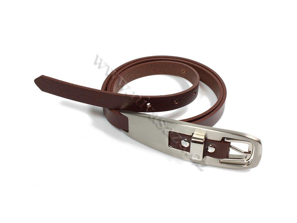 Dámský kožený pásek Bronzino Lei 9285/15 hnědý
