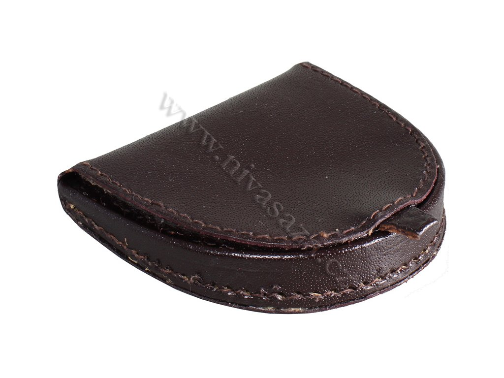 Kožená peněženka na mince PE409-BR hnědá