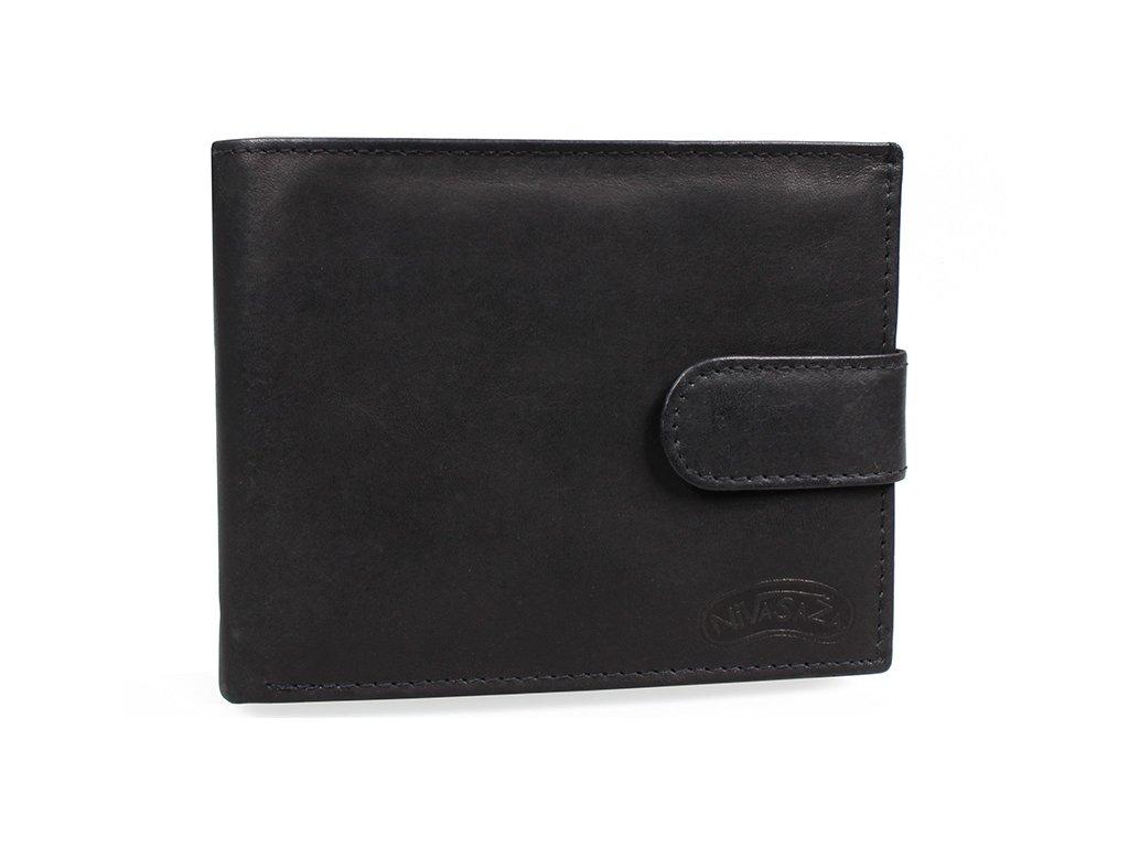Pánská kožená peněženka Nivasaža N34-MTH-B černá