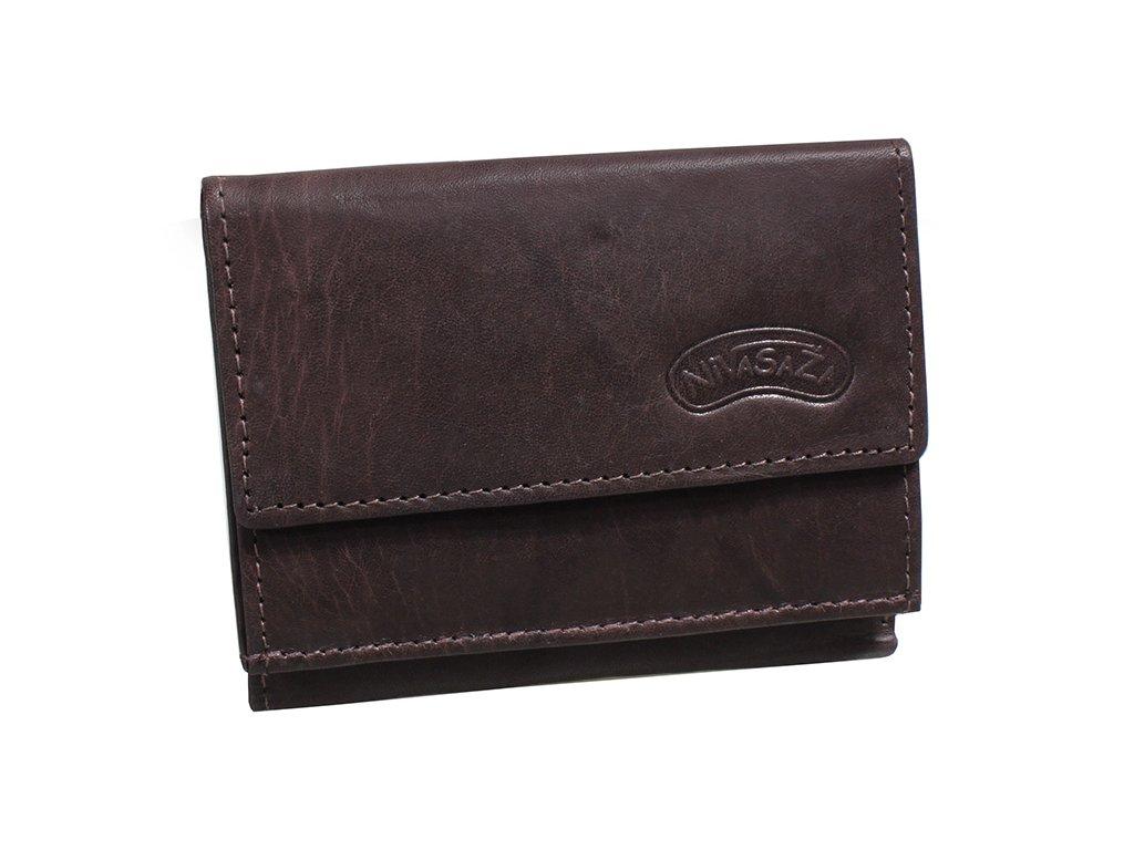 Kožená peněženka Nivasaža N38-MTH-BR hnědá