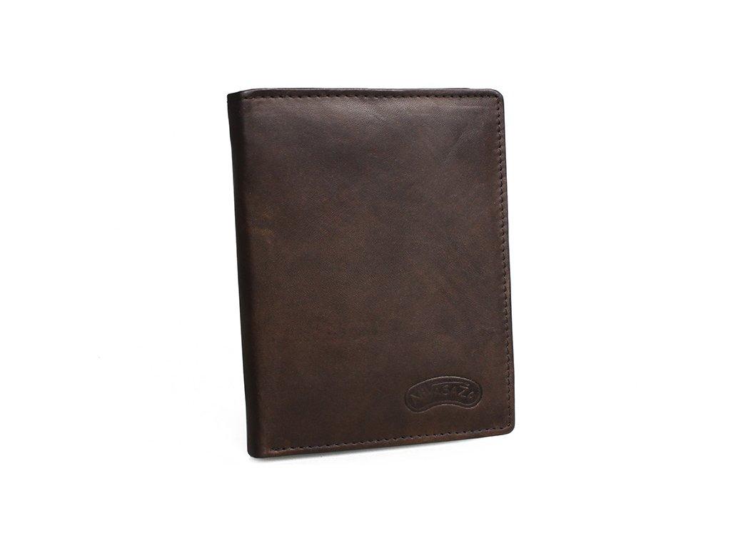 Pánská kožená peněženka Nivasaža N41-MTH-BR hnědá