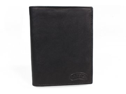 Pánská kožená peněženka Nivasaža N1-MTH-B černá