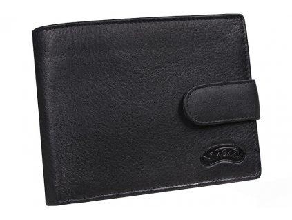 Pánská kožená peněženka Nivasaža N55-FNP-B černá