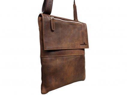 Kožená taška Green Wood 5030H-KHA hnědá