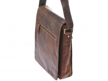 Pánská kožená taška Green Wood 584H-SND hnědá