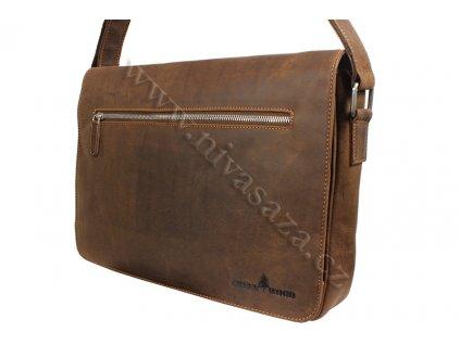 Pánská kožená taška Green Wood 588H-KHA hnědá