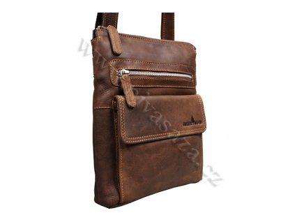 Kožená taška Green Wood 6306H-KHA hnědá