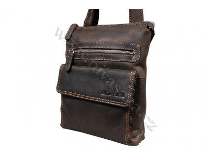 Kožená taška Green Wood 6306H-DBR hnědá