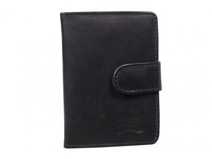 Kožené pouzdro na karty Nivasaža N160-MTH-B černé