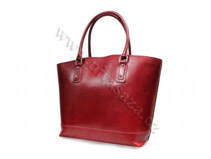 Dámská kožená kabelka ITA3658 červená