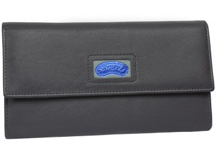 Dámská kožená peněženka Nivasaža N224-NAB-BL tmavě modrá